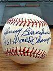 Signed Johnny Blanchard Ball - 2 OAL ! ! 1961 WS Champs! - Autographed Baseballs (Baseball Oal Ball)