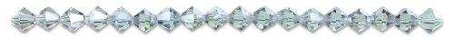 Cousin Crystazzi 6mm Blue/Pur Satin Bicone Crystal, 18-Piece