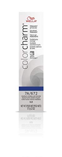 Wella Color Charm Gel, 672/7A Medium Smokey Ash Blonde, 2 Ounce
