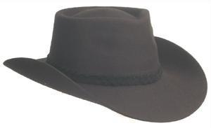 ABL - Chapeau Western avec Bord Large - M (pourtour de crâne 56-57cm), Noir