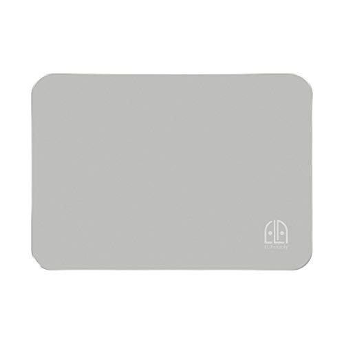 Mouse Pad Aluminium, ELifeApply Double Side Mouse Pad with Aluminium Surface and Non-Slip Rubber Base, Fast and Accurate Control for Laptop, Computer & PC, 9.45×7.08×0.08 inches (Silver)