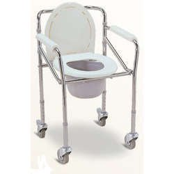 Buy Easy Care Commode Chair With Wheels, Removing Container, Height ...