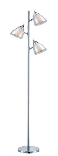 Acrylic Floor Lamp Shade (Lite Source Floor Lamps LS-81615A/WHT Selika II 3-Lite Floor Lamp with White Acrylic Shade, 8