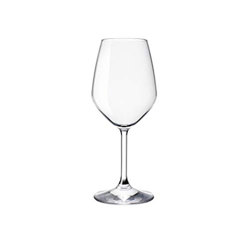 - Bormioli Rocco 14.75 oz White Wine Glasses (Set Of 4): Crystal Clear Star Glass, Laser Cut Rim For Wine Tasting, Lead-Free Cups, Elegant Party Drinking Glassware, Dishwasher Safe, Restaurant Quality