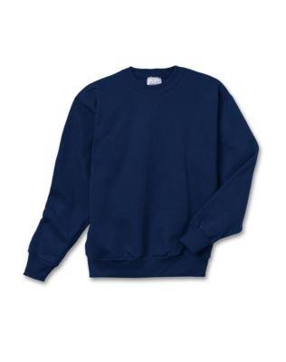 Hanes Youth ComfortBlend® EcoSmart® crew neck - Navy - M (Comfortblend Sweatshirt Youth Crewneck)