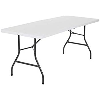 Generic YCUS150713-069  Tablesc Indoor Ou Indoor Outdoor 6 Folding Table Picnic Party Dining Portable Plastic Camp Tables 6 Folding