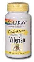 Supplément Solaray Valerian Organic Root, 515 mg, 100 comte