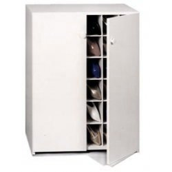 Charmant Shoe Cubby Cabinet 30 Spaces With Doors