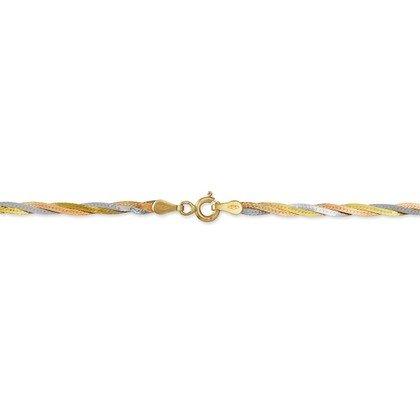 HISTOIRE D'OR - Chaine Or Tricolore - Femme - Or 3 couleurs 375/1000 - Taille Unique