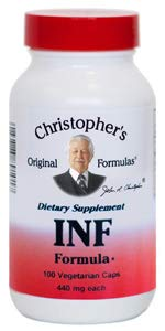 Christopher's Original Formula INF Formula (Formerly Infection Formula) - 100 Caps (1 Pack) (Best Pain Pill For Toothache)