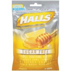 Honey Mentho Drops Lemon Lyptus (Halls Mentho-Lyptus Drops Sugar Free Honey-Lemon - 25 ct, Pack of 3)
