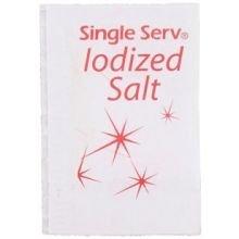 Single Serv Flat Iodized Salt Packet, 0.6 Gram -- 6000 per case. by Diamond Collection