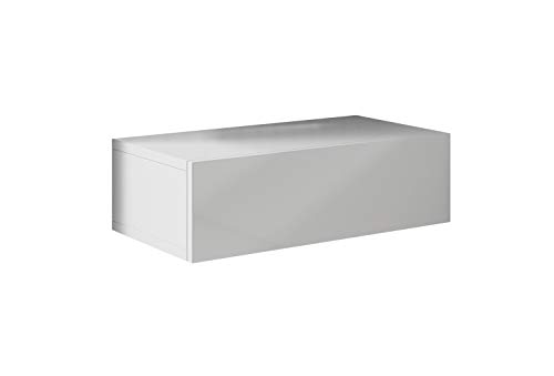 muebles bonitos - Mesita de Noche Colgante Europa Color Blanco