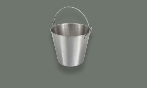 Update International UP-13 13 quart Utility Pail 202 Stainless Steel