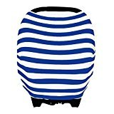- Kiddo Care Car Seat Cover I Canopy I stroller cover I Shopping Cart Cover I High Chair Cover I Multipurpose Canopy (Blue and White Stripes)