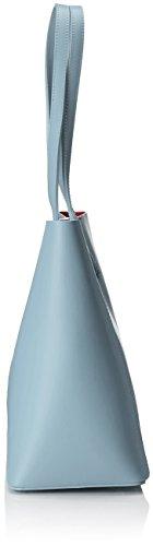 Chicca Borse 8610, Borsa a Spalla Donna, 40x38x14 cm (W x H x L) Turchese (Sky)