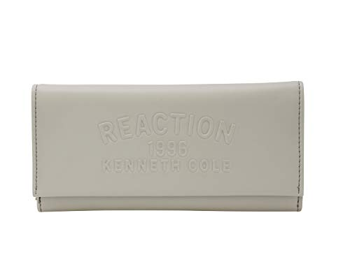 Kenneth Cole Reaction Trifold Organizer Clutch Wallet (Seagull Embossed) (Cole Kenneth Organizer)