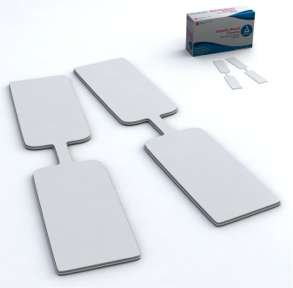 Dynarex 3615 Adhesive Bdg, Butterfly Fab 3/8''x1 13/16'' Md, Ster-24/100/Cs by Dynarex (Image #1)