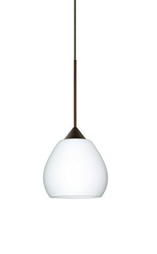 Besa Lighting 1XT-560507-LED Tay Tay 1 Light LED Cord-Hung Mini Pendant with Opa, Bronze ()