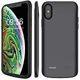 Stoon iPhone XS MAX Funda de batería, 6000 mAh Cargador Portátil Funda Recargable Extended Battery Pack Protectora Carcasa...