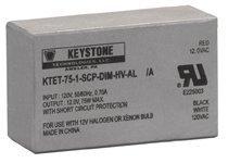 Keystone 00426 - 75 watt 120 volt Dimmable Halogen Transformer (KTET-75-1-SCP-DIM-HV-AL)