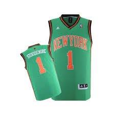 New York Knicks de la NBA de San Patricio Día Jersey – Stoudemire # 1 –