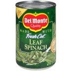 Del Fresh Cut Whole Leaf Spinach 13.5 OZ (Pack of 24)
