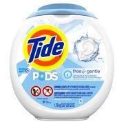 Tide Free and Gentle Laundry Detergent Pods, 81 Count, Unscented and Hypoallergenic for Sensitive Skin (162 Count)