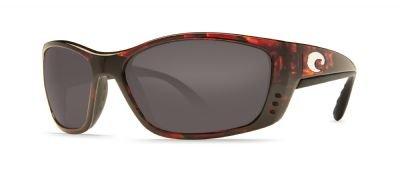 Costa Del Mar Fisch Sunglasses, Tortoise, Gray 580P Lens