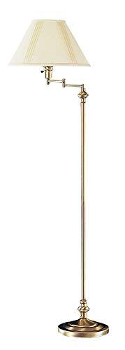 Cal Lighting BO-314-AB Transitional Swing Arm Floor Lamp,150-watt, 12.5