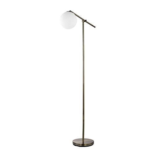 Lamp Frosted Shade Glass Floor - Globe Electric Portland 65