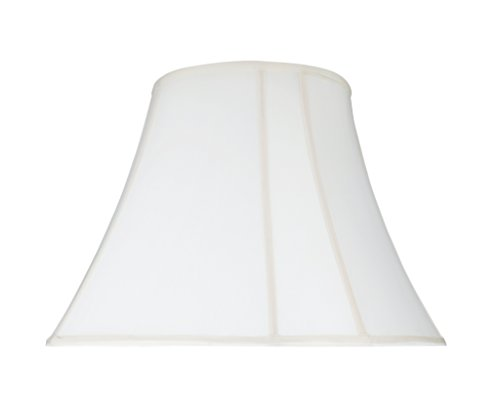 Transitional Bell Curve Corner Shape Spider Construction Lamp Shade in Off White, 18
