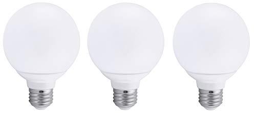 3 Pack Bioluz LED Pendent Light Bulb, Dimmable Globe LED G25 40 Watt Replacement (Uses 6 Watts) Warm White (2700K) LED Light Bulb, 450 Lumens UL Listed (Pack of 3)