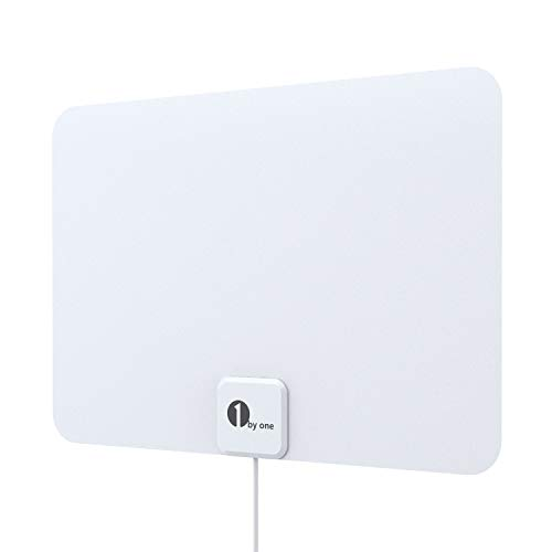 [2019 Latest] HD Digital Amplified TV Antenna - Support 4K 1080P & All Older TVs Indoor Powerful Hdtv Amplifier Signal Booster - Coax Cable Included (White))
