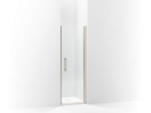 (Sterling 5698-27S-G03 Finesse Peak Frameless Pivot Shower Door with Frosted Glass, 27-in W x 67-in H,)
