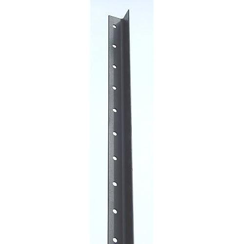 metal fence post. Deer Fence: 9 Ft Black Angle Steel Fence Posts - 8 Pk Metal Fence Post