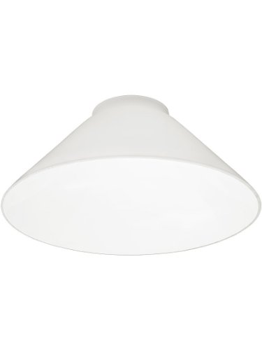 Glass Cone Shade - White Cone Shade With 3 1/4