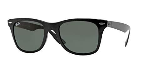 Ray-Ban RB4195 WAYFARER LITEFORCE 601/71 52M Black/Green Sunglasses For Men For ()