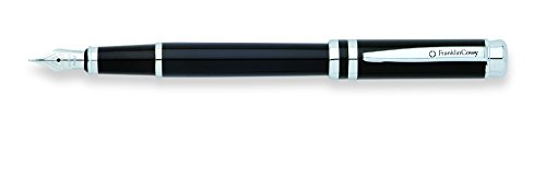 Franklin Covey Freemont Black Lacquer Fountain Pen with Chrome Appointments and Medium Nib (FC0036IM-1MS) ()