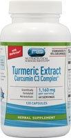 Extrait Vitacost curcuma curcumine complexe C3 avec Bioperine - 1160 mg par portion - 120 Capsules
