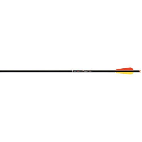 Easton Beman ICS Crossbow Hunter Bolt Moon Nock Factory 4 Vanes (72-Pack), 22-Inch