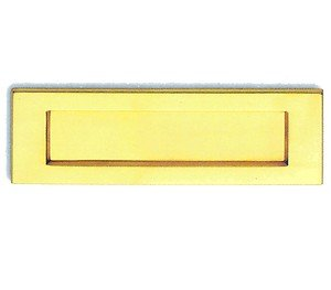 Large Solid Polished Brass Victorian Style Letter Plate Flap PB04E