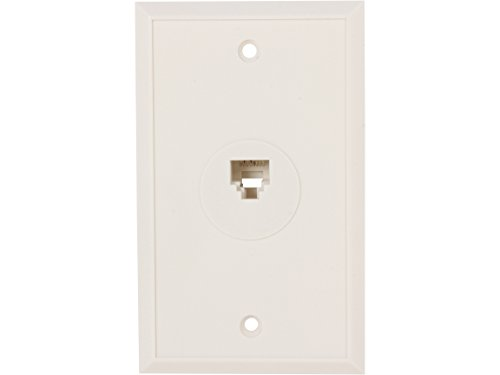 - Nippon Labs WP-188-WH Wall Plate with Modular Jack, 8P/8C, 1 Port, White