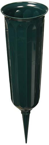 Novelty Plastic Cemetery Vase, 3-Inch, Green