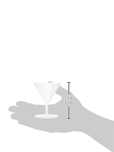 """Clear Mini Plastic Martini Glasses 