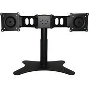 DoubleSight Dual Monitor Flex Stand Fully Adjustable Height Tilt Pivot Free Standing, VESA 75mm/100mm, up to 19