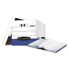 - Bankers Boxamp;reg; - Data-Pak Storage Box, 12-3/4 x 16 x 12-1/2, White/Blue, 12/Ctn - Sold As 1 Carton - Ideal for Stacking and Storing Computer printout Binders.