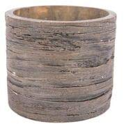 (Swan Creek Weathered Wood Pottery Candle Roasted Espresso)