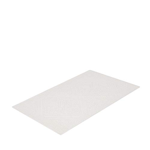 Tapete Para Casa Buddemeyer Tivoli Branco Retangular 100% Algodão com Base Antiderrapante