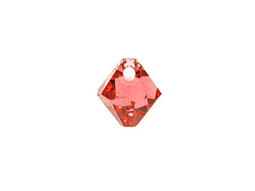 Swarovski Crystal, 6328 Top Drilled Bicone Beads 8mm, Padparadscha, Wholesale Packs | Pack of 18 ()